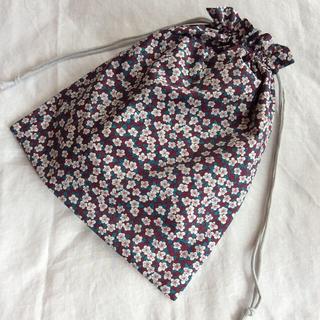 リバティ 巾着袋  フィオン(外出用品)