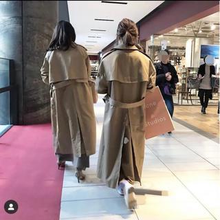 HYKE - HYKE BIG fit trench coat 【2019AW新品】