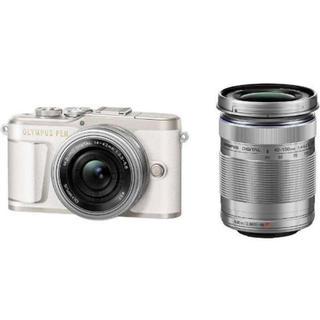 オリンパス(OLYMPUS)の新品未使用 オリンパス デジタル一眼カメラ EZダブルズームキット ホワイト(デジタル一眼)