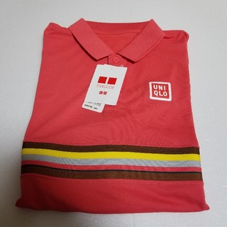 ユニクロ(UNIQLO)のユニクロ 新品 ポロシャツ ピンク ボーダー 錦織 限定(ポロシャツ)
