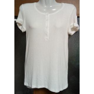 エンポリオアルマーニ(Emporio Armani)のエイポリオアルマーニ 袖口リボンが可愛いTシャツ 白 M(Tシャツ(半袖/袖なし))