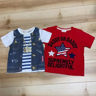 ダディオーダディー(daddy oh daddy)のダディオーダダディー Tシャツ サイズ100 2枚セット(Tシャツ/カットソー)