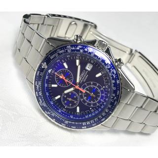 セイコー(SEIKO)の【極美品】SEIKO パイロット クロノグラフ 腕時計(腕時計(アナログ))