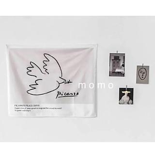 ファブリックポスター♡バード柄♡タペストリー♡モノトーン♡鳥♡韓国風インテリア♡