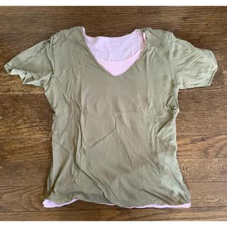 ビームス(BEAMS)のBEAMS ビームス 重ね着風 Tシャツ M リバーシブル カットソー(Tシャツ/カットソー(半袖/袖なし))