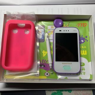 エーユー(au)のおまけ付き au mamorino4 プリンセスパープル(携帯電話本体)