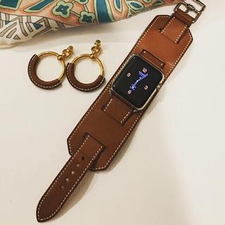 エルメス(Hermes)の激レア Apple Watch HERMES アップルウォッチ カフ 廃盤(腕時計(デジタル))