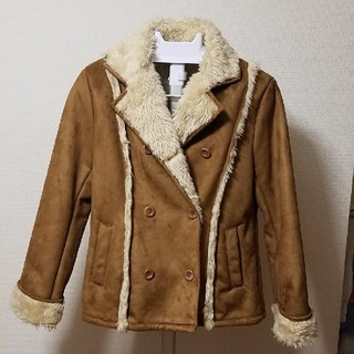 フェリシモ(FELISSIMO)のコート キャメル ムートン風 Lサイズ(ムートンコート)