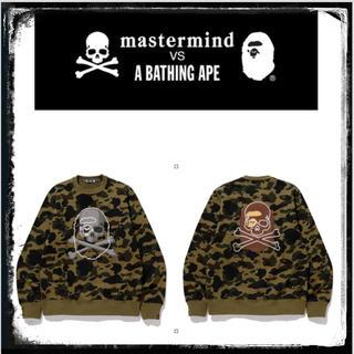 マスターマインドジャパン(mastermind JAPAN)の⭐️新品タグ付きラスト1点❗️⭐️ MM VS BAPE CREWNECK #2(スウェット)
