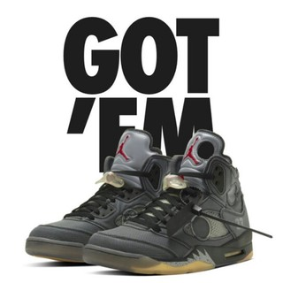 NIKE - NIKE air jordan5THE off white エアジョーダン5