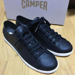 カンペール(CAMPER)の新品 Camper Uno カンペール レザースニーカー ウノ ブラック(スニーカー)
