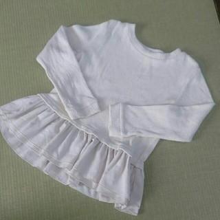 petit main - プティマイン 裾フリルリブ編みカットソー
