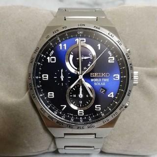 セイコー(SEIKO)のSEIKO WORLD TIME SOLAR  V195-0AE0 クロノグラフ(腕時計(アナログ))