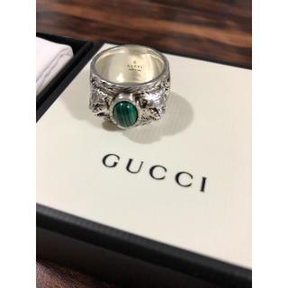 Gucci - GUCCI グッチ リング ガーデン 石 シルバー メンズ