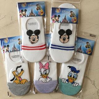 Disney - ディズニーカバーソックス5足セット