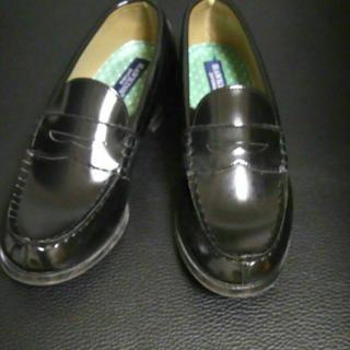 ホーキンス(HAWKINS)のHawkinsローファー黒 23.5(ローファー/革靴)