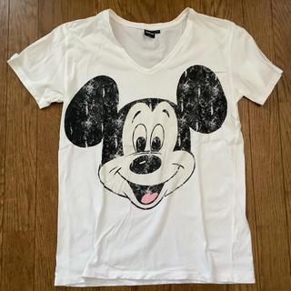 ウィゴー(WEGO)のミッキーマウス ディズニー Tシャツ L  ウイゴー WEGO Vネック(Tシャツ/カットソー(半袖/袖なし))