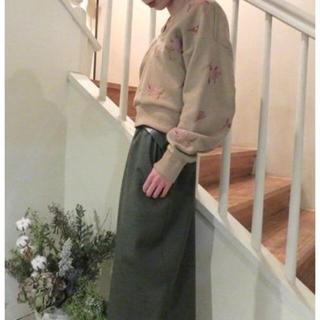 マメ(mame)のMame Kurogouchi 刺繍 スパンコール スウェット トレーナー(トレーナー/スウェット)