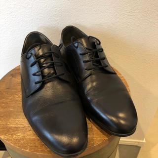 革靴 ビジネスシューズ 黒 本革 ストレートチップ 25cm 25.5cm(ドレス/ビジネス)