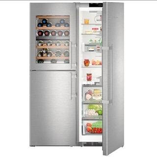 リープヘル ワインキャビネット付き冷凍冷蔵庫 SBSes848(冷蔵庫)