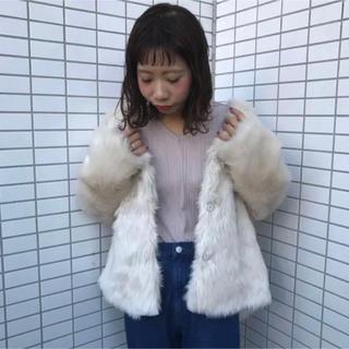 Kastane - 【美品】kastane ファーBIGブルゾン コート