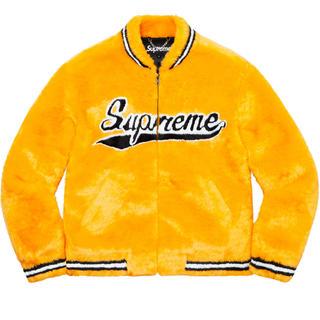 Supreme - Supreme faux fur varsity jacket M 20ss