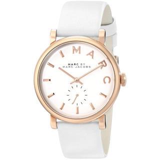 マークバイマークジェイコブス(MARC BY MARC JACOBS)のマークジェイコブス 時計 ベイカー MBM1283 ホワイト 【箱なし】(腕時計)