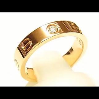 カルティエ(Cartier)のカルティエ ミニラブ 750PG ダイア1P リング #48(リング(指輪))