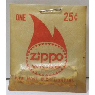 ジッポー(ZIPPO)の60年代ZIPPO WICK『25¢アンティークウイック未使用希少(タバコグッズ)