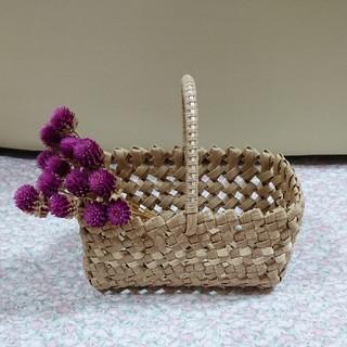 石畳編みバスケット*オフホワイト(バスケット/かご)