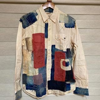 キャピタル(KAPITAL)のKAPITAL パッチワークシャツ 一点物 4サイズ XLサイズ(シャツ)