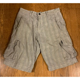 ステューシー(STUSSY)のSTUSSY ステューシー ハーフパンツ ズボン 32 グレー チェック(ショートパンツ)