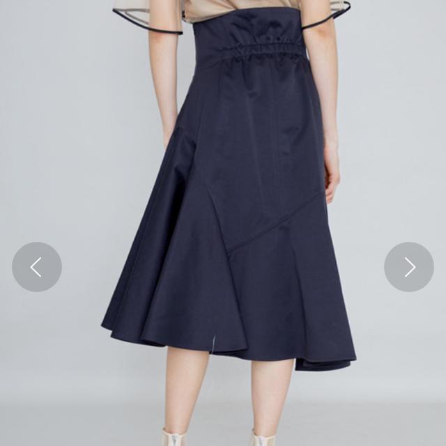 STUDIOUS(ステュディオス)のUNITED TOKYO アシメフレアスカート レディースのスカート(ひざ丈スカート)の商品写真