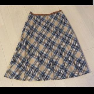 ロペ(ROPE)のROPE チェックスカート(ひざ丈スカート)
