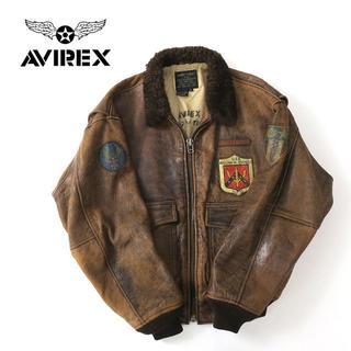 アヴィレックス(AVIREX)のレアモデル◎AVIREX G-1 FLYING TIGERS 1987年製(レザージャケット)