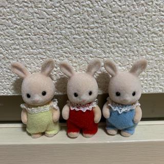 EPOCH - ☆レア☆シルバニアファミリー シャンパンウサギの赤ちゃん みつごちゃん☆