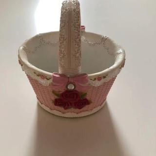 アンティーク 姫 可愛い 雑貨 小物入れ リボン 薔薇 ピンク ♡
