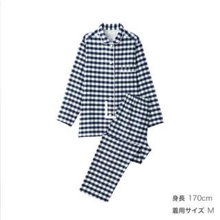 MUJI (無印良品) - 脇に縫い目のない フランネル パジャマ
