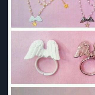 Angelic Pretty - Angelic Pretty 天使の羽根 リング 白 ホワイト