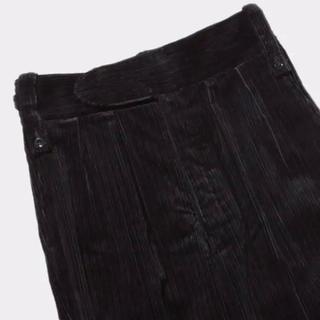 サンシー(SUNSEA)のNEAT Jambo Random Corduroy TAPERED BLACK(スラックス)