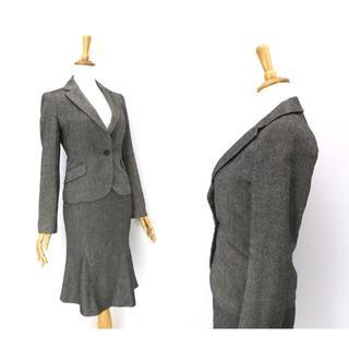 エムプルミエ(M-premier)のM-PREMIER  シルク,カシミヤ混ウールツイード◎スカートスーツ(スーツ)