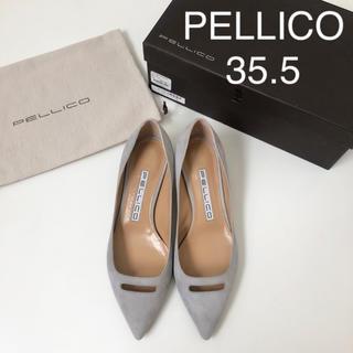 PELLICO - 美品 ★ ペリーコ アネッリ スエードパンプス 35.5 ミドルヒール