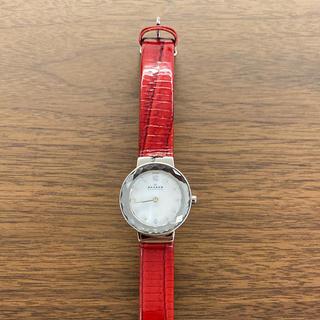 スカーゲン(SKAGEN)のSKAGEN 腕時計 赤(腕時計)