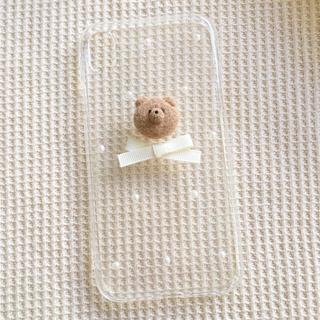 くまさんとリボンケース(iPhoneケース)