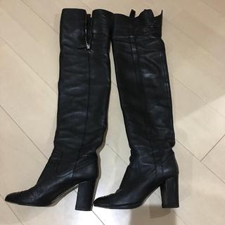 CHANEL - CHANEL ニーハイ ブーツ 黒