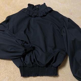 GRL - GRL グレイル 黒トップス ハイネック ブラウス ブラックコーデ