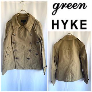 ハイク(HYKE)の希少 green (現HYKE) コットンナポレオンジャケット カーキ サイズ1(ミリタリージャケット)