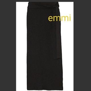 エミアトリエ(emmi atelier)のemmi ライトリブニットスカート(ロングスカート)