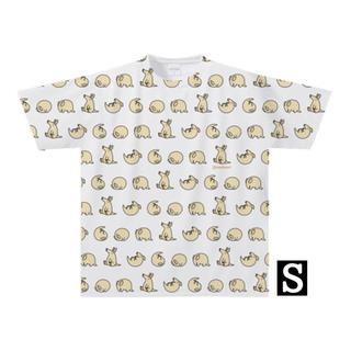 【全面プリント】ツチブタでんぐり返しTシャツ(Sサイズ)(Tシャツ/カットソー(半袖/袖なし))