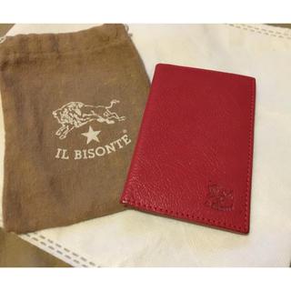 イルビゾンテ(IL BISONTE)の期間限定価格◆イルビゾンテ 正規品 イタリアンレザー カードケース 名刺入れ 赤(名刺入れ/定期入れ)
